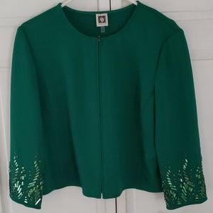 Anne Klein Emerald Green Jacket
